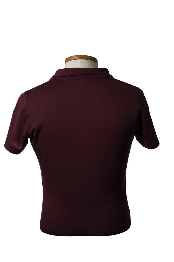 back of womens polo shirt